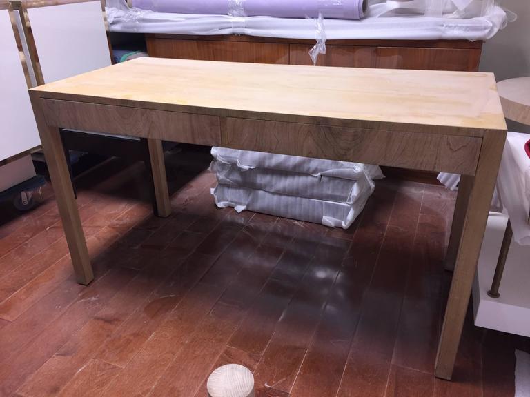 Custom Robsjohn-Gibbings Walnut Desk In Good Condition For Sale In Hudson, NY