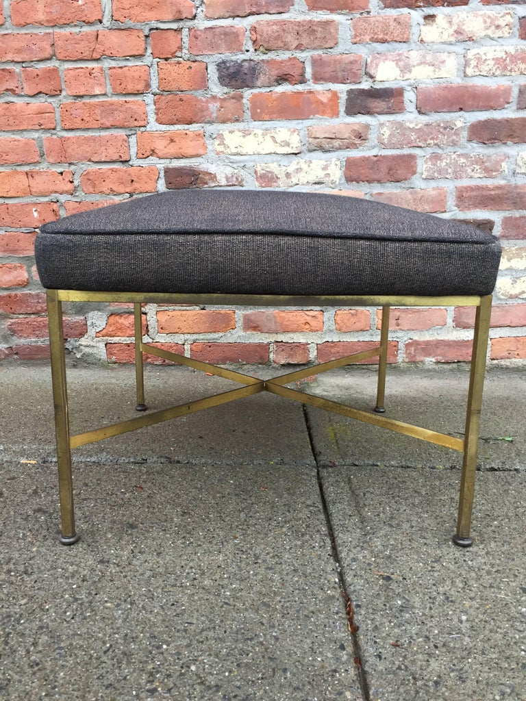 Paul McCobb Brass X-Stretcher Stool 2