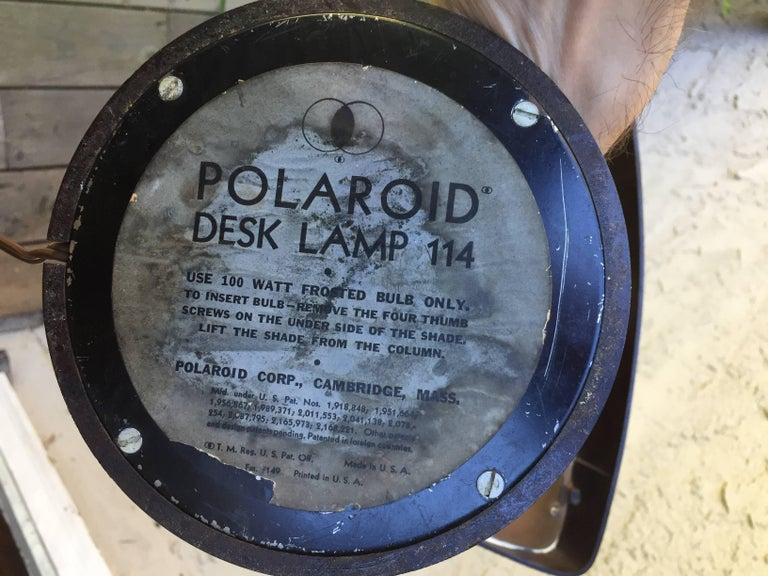 Polaroid Desk Lamp by Walter Dorwin Teague 9
