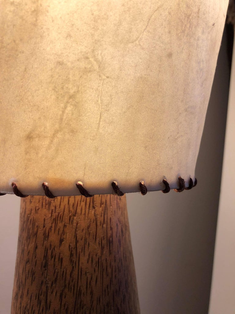 Brazilian Palmwood Floor Lamp For Sale