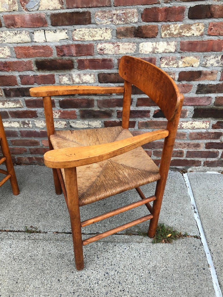 Danish Set of Six Borge Mogensen Shaker Dining Chairs For Sale