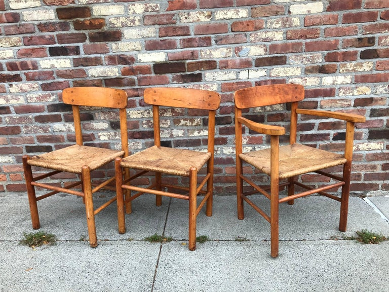 Mid-Century Modern Set of Six Borge Mogensen Shaker Dining Chairs For Sale