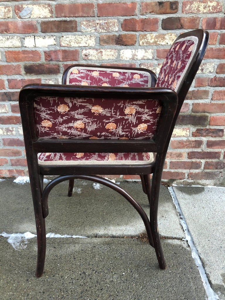 Austrian Thonet Secessionist Armchair Attributed to Otto Wagner For Sale