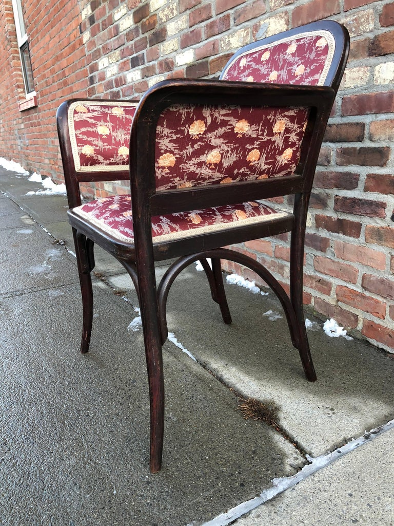 Thonet Secessionist Armchair Attributed to Otto Wagner In Good Condition For Sale In Hudson, NY