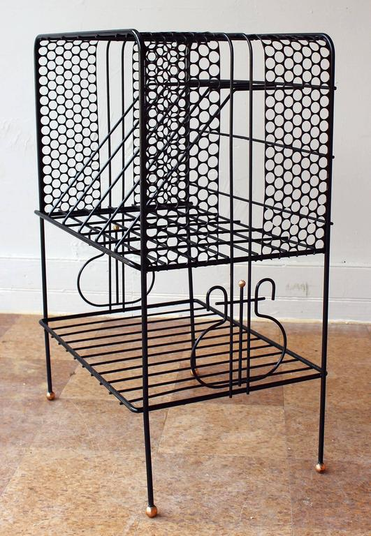 French Mategot Style Storage Rack For Sale
