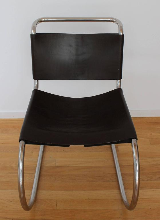 Mid-Century Modern Set of Six MR Chairs For Sale