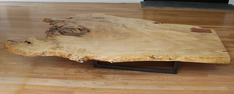 Spalted Maple Coffee Table In Excellent Condition For Sale In Southampton, NY