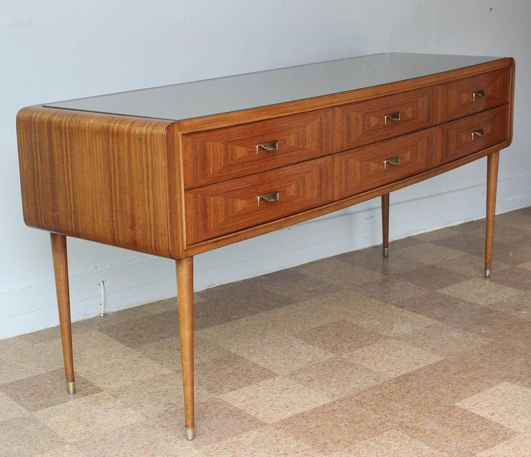 Mid-Century Modern Italian Rosewood Sideboard For Sale