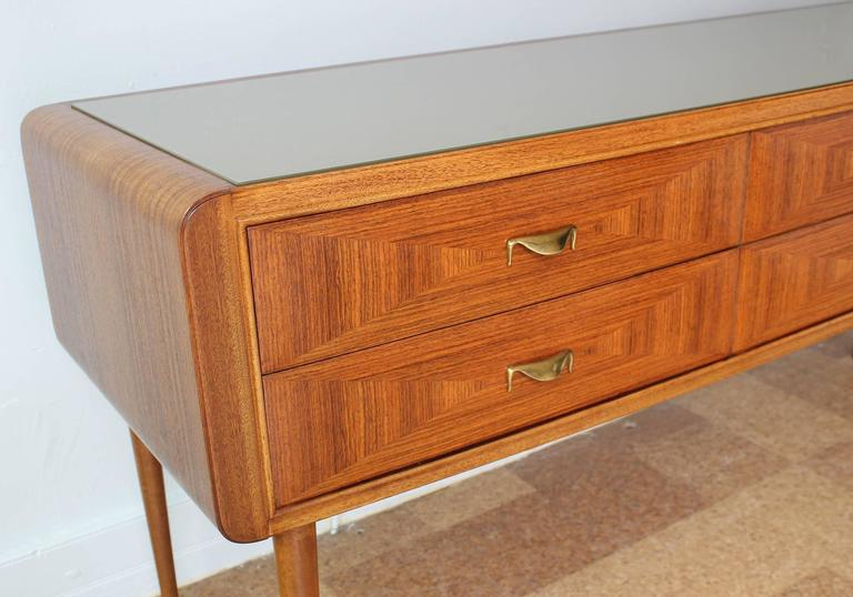 Mid-20th Century Italian Rosewood Sideboard For Sale