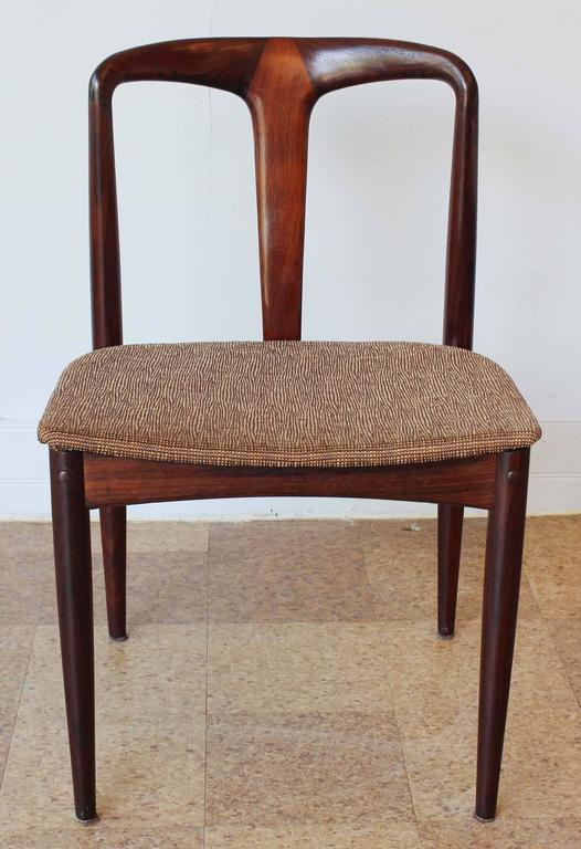 Six Johannes Andersen Rosewood Dining Chairs 3