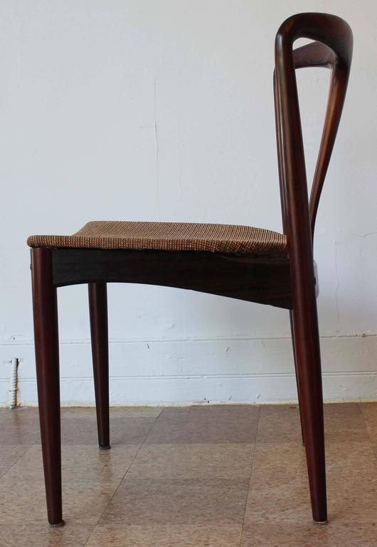 Six Johannes Andersen Rosewood Dining Chairs 4