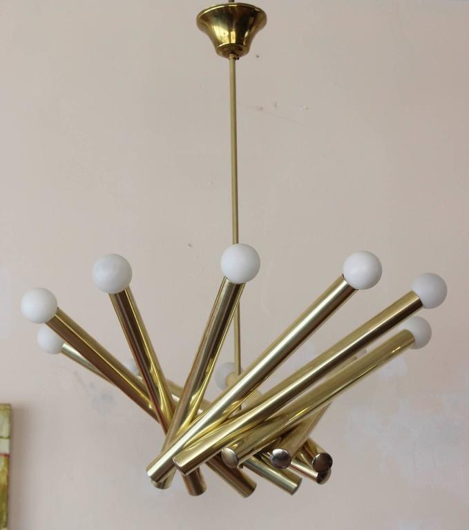 Stilnovo Brass Chandelier 3