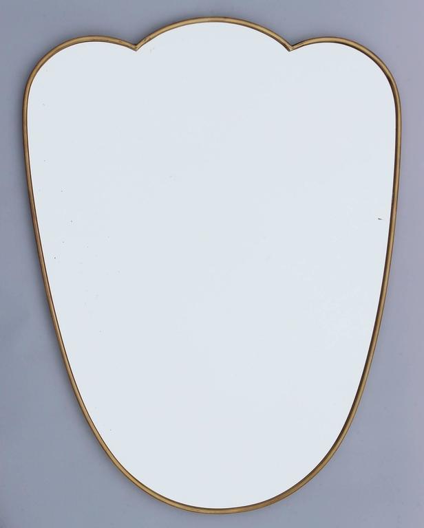 Italian Brass Scalloped Mirror 2