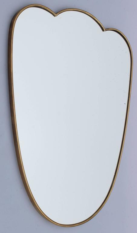 Italian Brass Scalloped Mirror 3