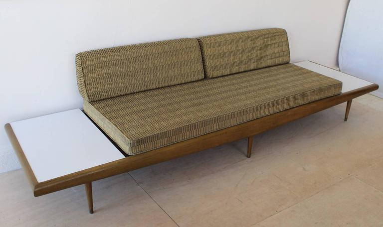 Mid-Century Modern Chevron Daybed Sofa For Sale