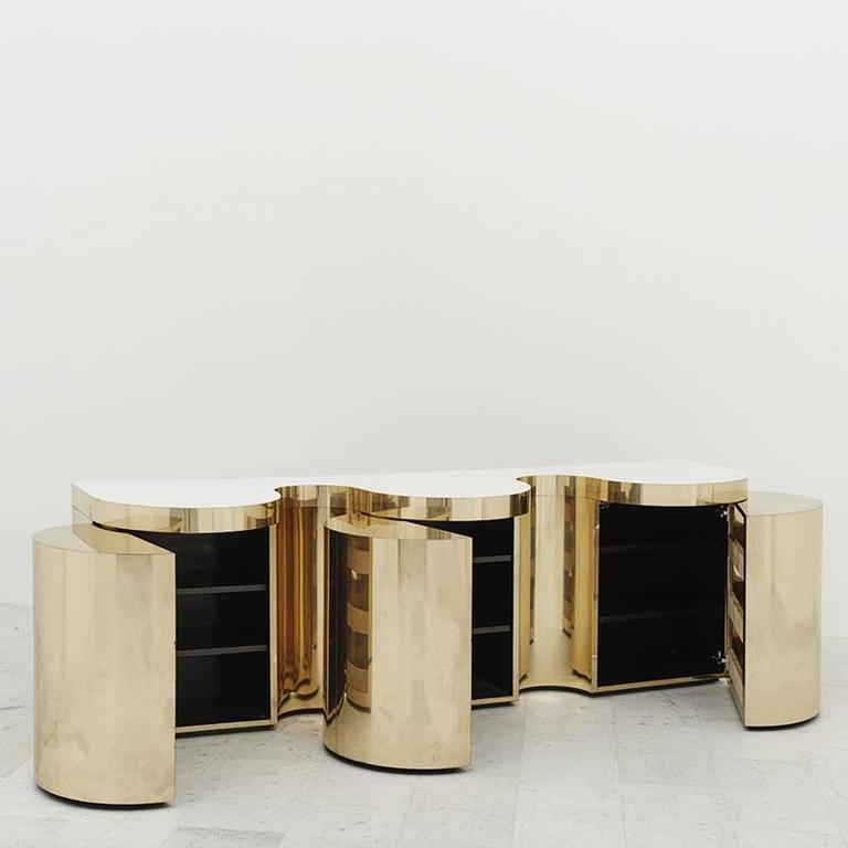 Paul Evans, Cylindrical Console, USA, circa 1980 In Excellent Condition For Sale In New York, NY