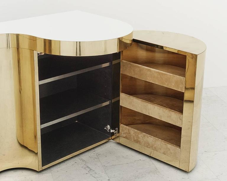 Late 20th Century Paul Evans, Cylindrical Console, USA, circa 1980 For Sale