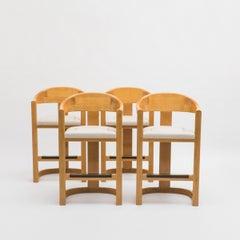 "Karl Springer, Set of Four ""Jackie O"" Barstools, USA, c. 1980's"