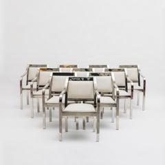 Karl Springer, Set of 10 Regency Dining Chairs, USA, 1980s