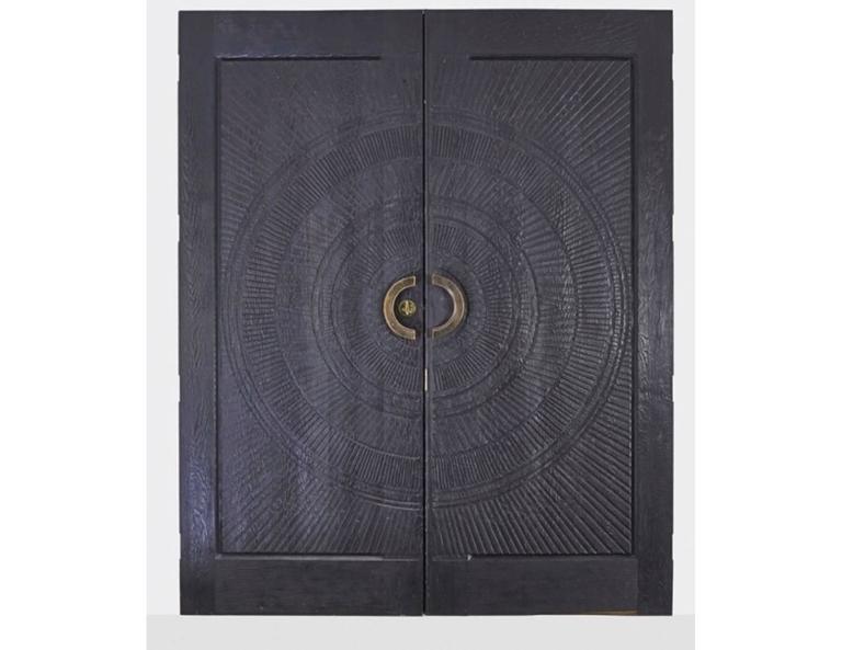 Mid-Century Modern Billy Joe McCarroll and David Gillespe, Heroic Sunburst Doors, USA, circa 1970s For Sale