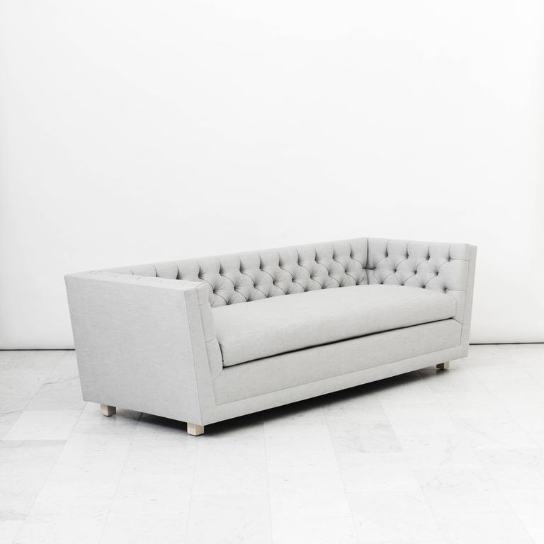 James Mont, Pair of Tufted Sofas, USA, circa 1952 In Excellent Condition For Sale In New York, NY