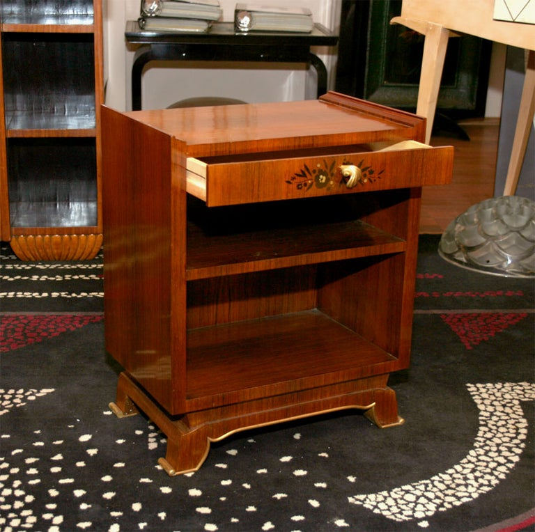 Jules Leleu Pair of French Art Deco Side Tables For Sale 3