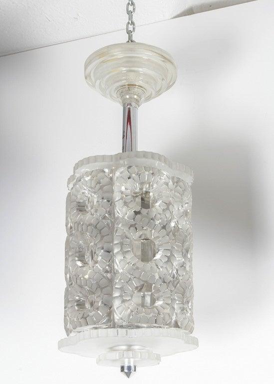 Mid-Century Modern Lalique Chandelier