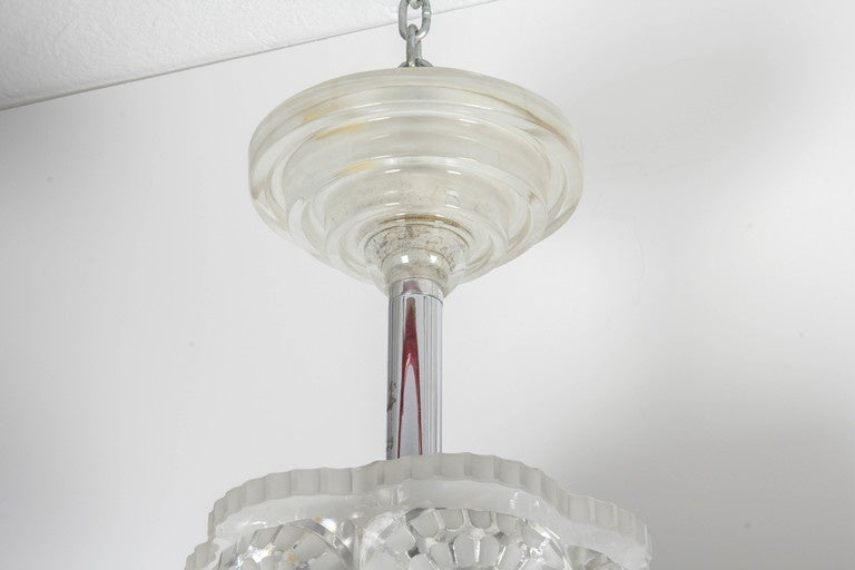 French Lalique Chandelier