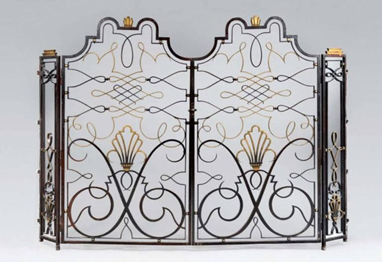 French 1940s Apartment Gate Attributed to Raymond Subes 10