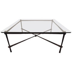 Wrought Iron Coffee Table by Jagr Design, Made in the USA