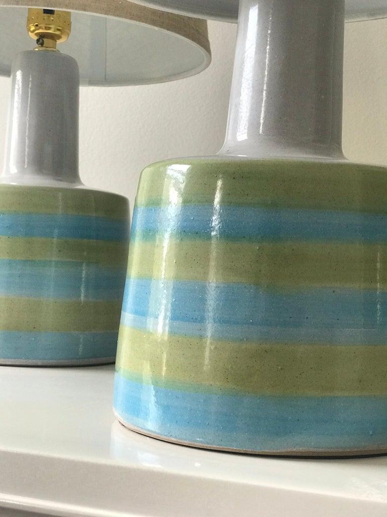 Mid-Century Modern Jane and Gordon Martz for Marshall Studios Ceramic Table Lamps- Pair