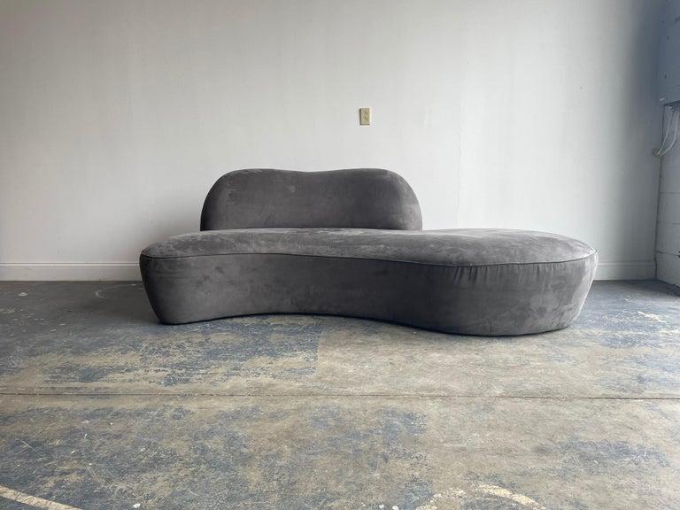 "Contemporary Vladimir Kagan ""Zoe"" Freeform Sofa, Organic Modernist, Microfiber"