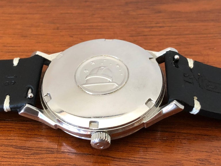 Omega Constellation Pie Pan with Boxes and Price Tag, circa 1966 In Good Condition For Sale In St.Petersburg, FL