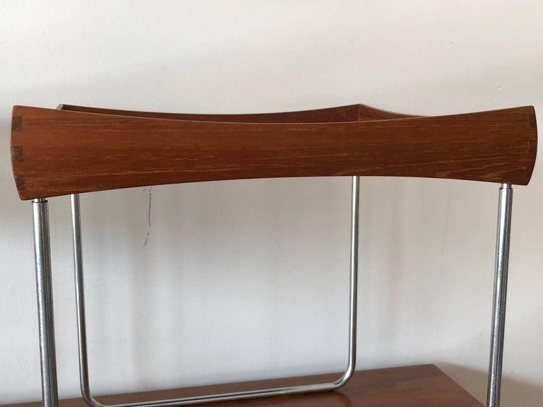 Mid-20th Century Hermann Bongard Norwegian Enamel Tray Tables For Sale