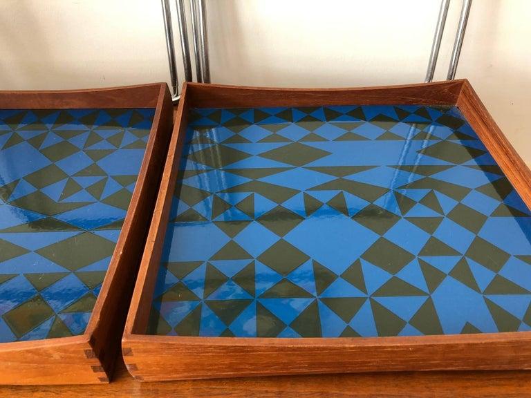 Hermann Bongard Norwegian Enamel Tray Tables For Sale 2