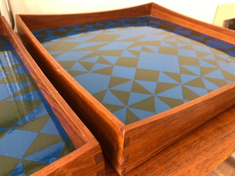 Hermann Bongard Norwegian Enamel Tray Tables For Sale 5