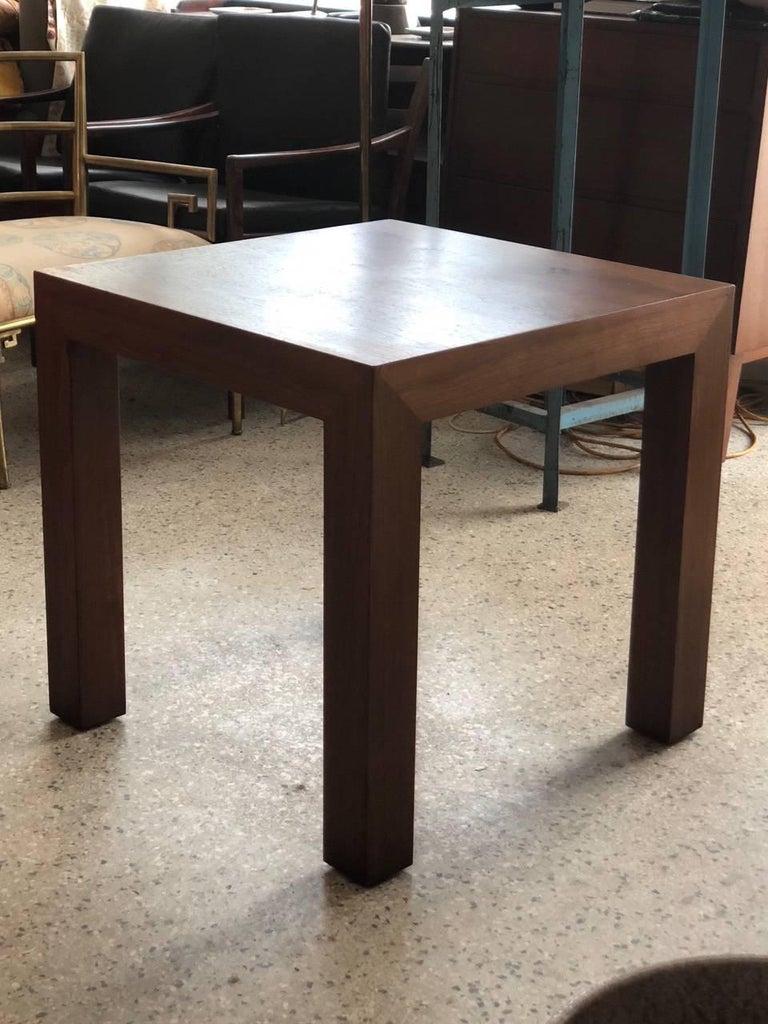 Modern Vladimir Kagan Parsons Table in Walnut For Sale