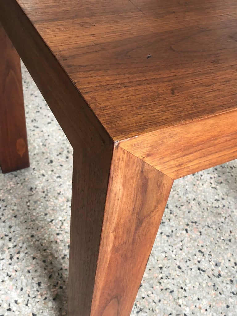 Late 20th Century Vladimir Kagan Parsons Table in Walnut For Sale