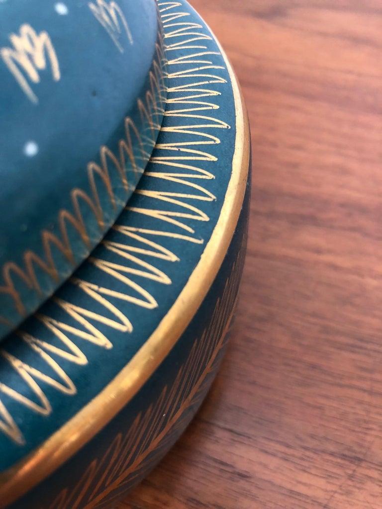 Modern Waylande Gregory Ceramic Jar with Sgraffito Decoration For Sale