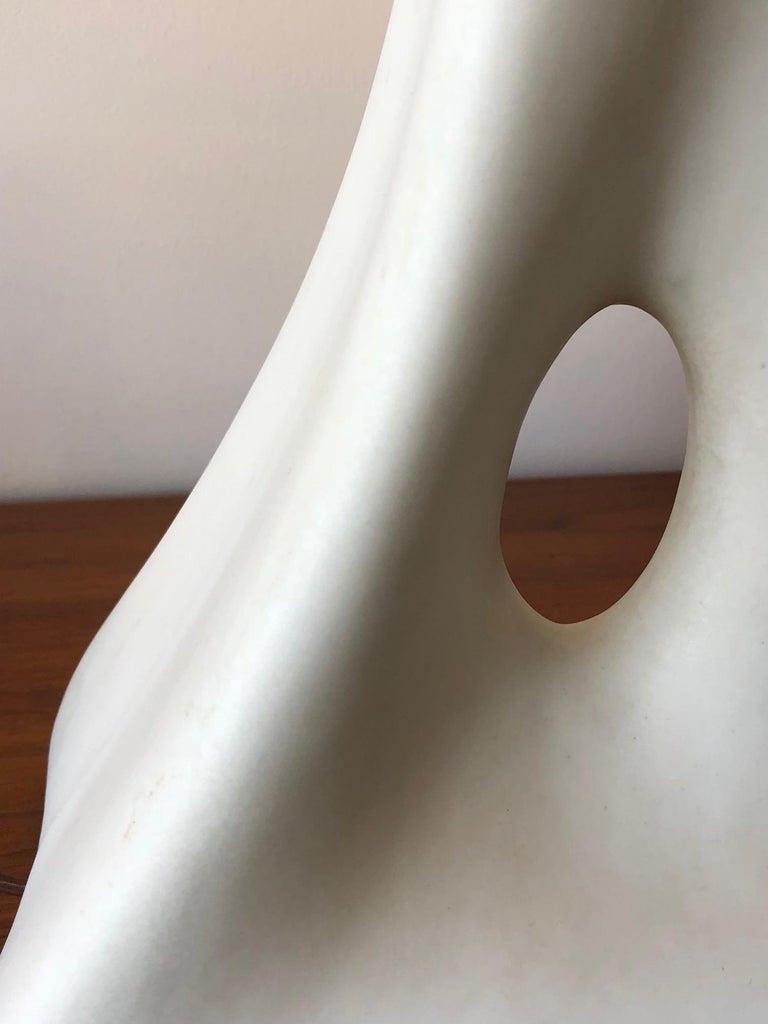 Unusual Ceramic Biomorphic Lamp With Original Shade For Sale 4
