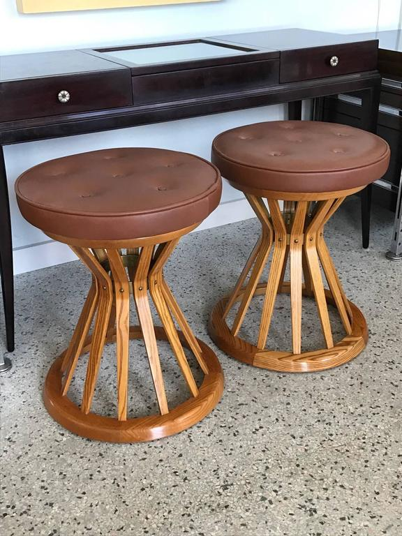 "Pair of ""Sheaf of Wheat"" Ottomans by E.Wormley for Dunbar 2"