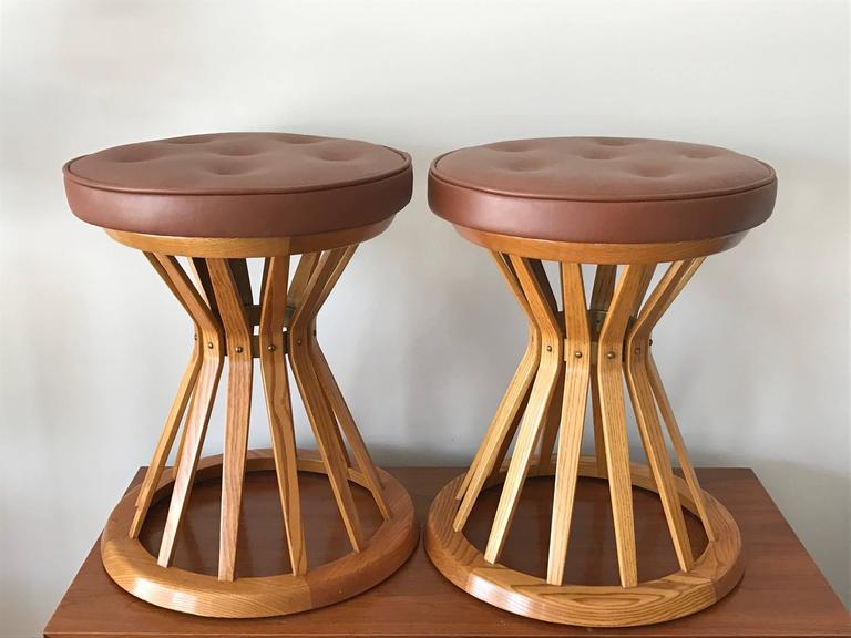 "Pair of ""Sheaf of Wheat"" Ottomans by E.Wormley for Dunbar 7"