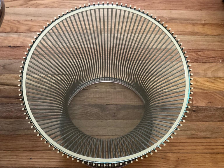 Modern Warren Platner Side Table with Glass Top For Sale