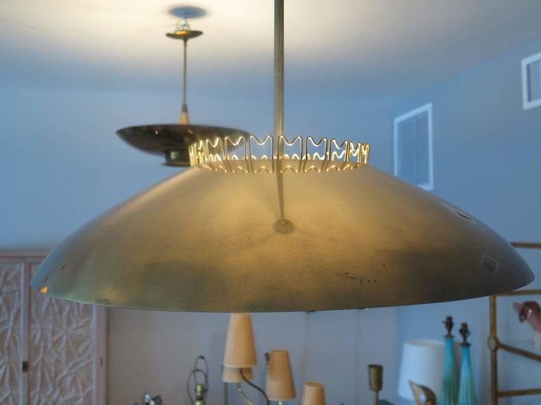 Finnish Brass Chandelier by Lisa Johansson-Pape  for Orno, Finland, 1950's. For Sale