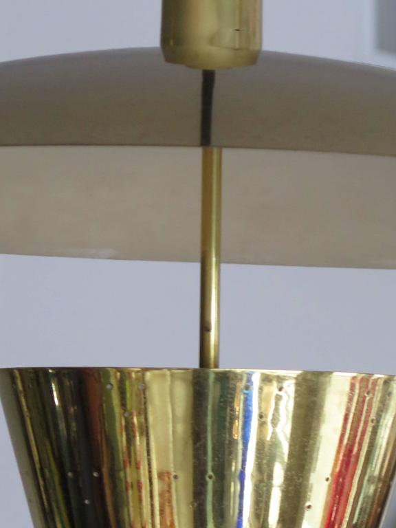 Brass Pendant Adjustable Lamp  In Good Condition For Sale In St.Petersburg, FL