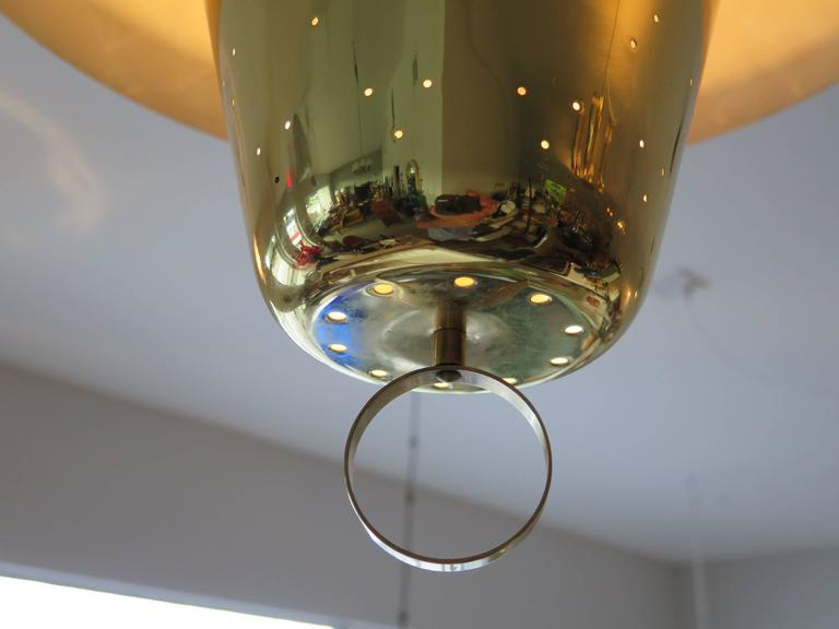 Brass Pendant Adjustable Lamp  For Sale 1