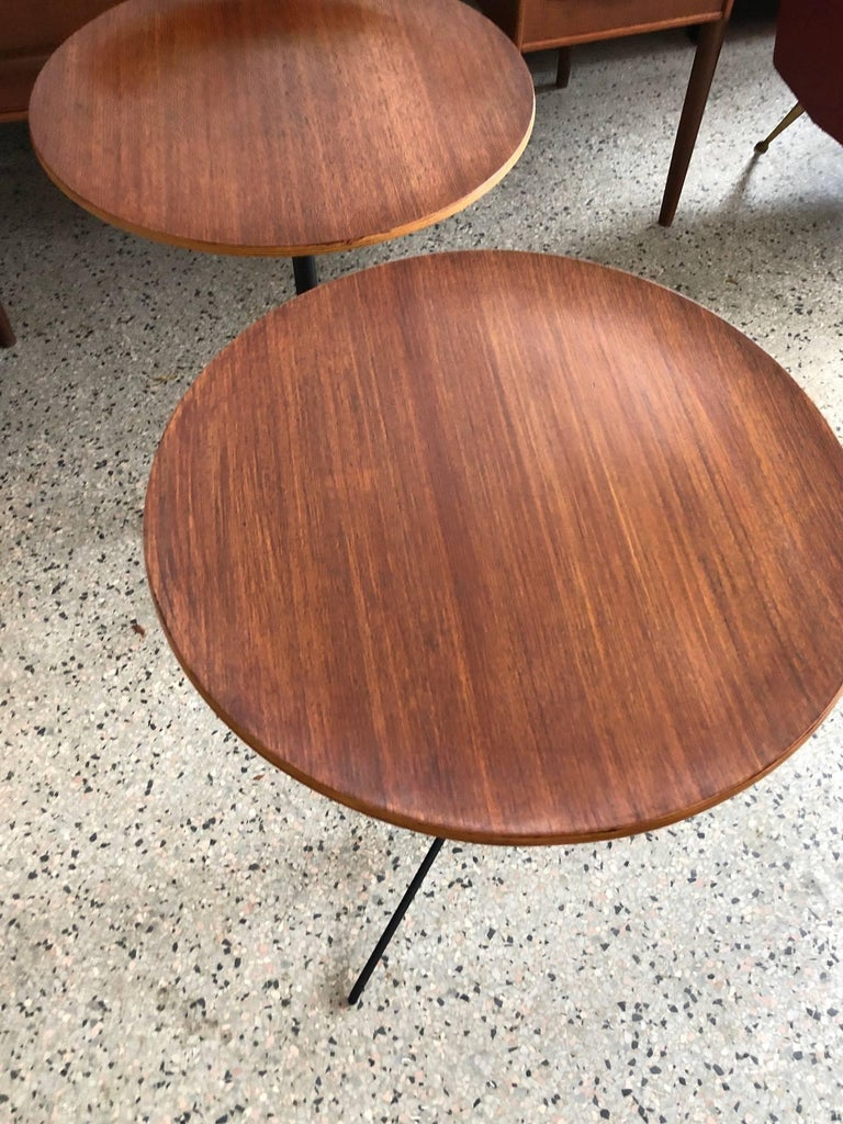Mid-20th Century Osvaldo Borsani for Tecno Occasional Tables For Sale