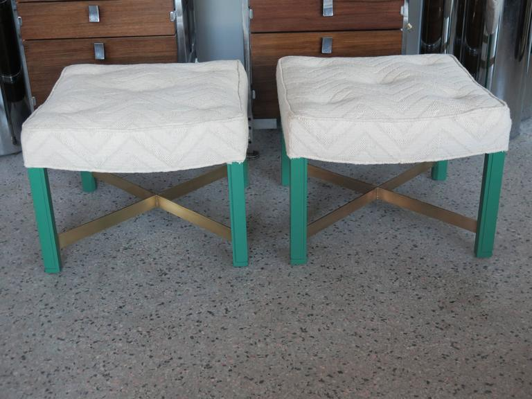 American Pair of Paul Laszlo Ottomans For Sale
