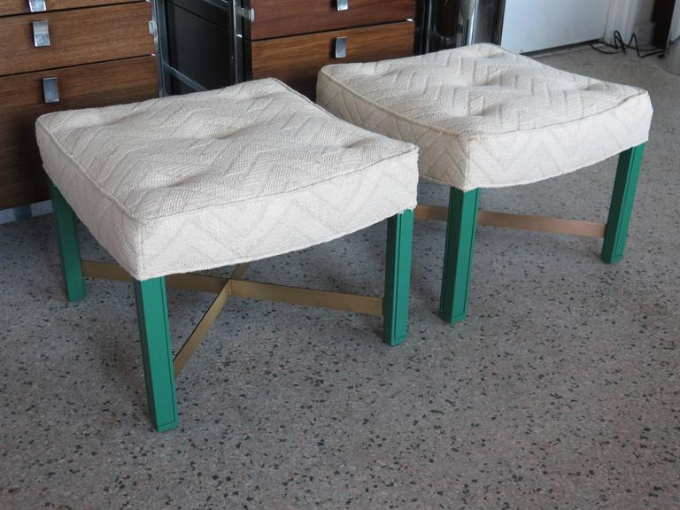 Mid-20th Century Pair of Paul Laszlo Ottomans For Sale
