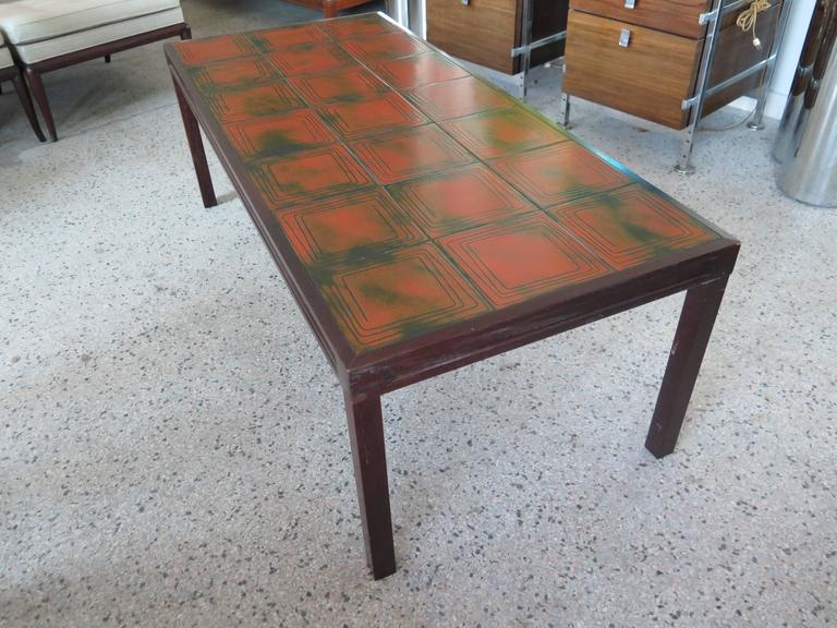 Unusual Tile Coffee Table by Bramin Mobler Denmark 3